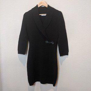 Calvin Klein Black Sweater Dress Long Sleeve S